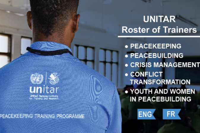 UNITAR launches a roster of trainers in peace and security