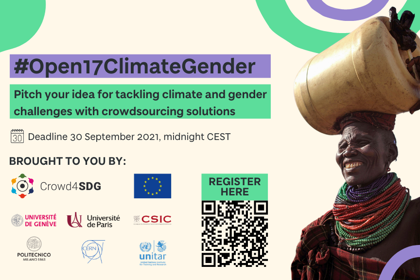 CALL FOR PROJECTS ON TACKLING CLIMATE AND GENDER CHALLENGES WITH CROWDSOURCING SOLUTIONS