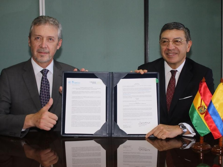 THE GENERAL SECRETARIAT OF THE ANDEAN COMMUNITY AND UNITAR SIGN A LANDMARK COOPERATION AGREEMENT FOR IMPROVING ROAD SAFETY