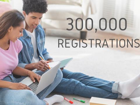 UN CC:E-LEARN REACHES 300,000 USERS!