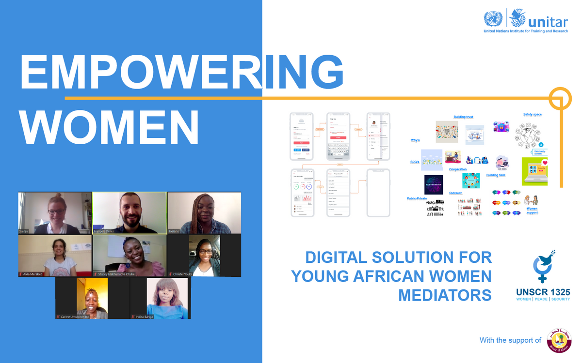 EMPOWERING YOUNG AFRICAN WOMEN MEDIATORS THROUGH INNOVATIVE DIGITAL SOLUTIONS
